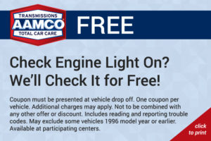 Free Check Engine inspection coupon