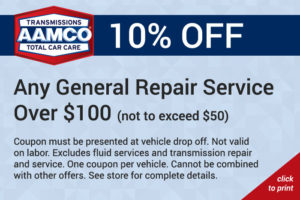 10% off any general repair service over $100 coupon